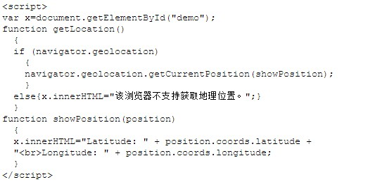HTML5 Geolocationd地理定位源碼解析