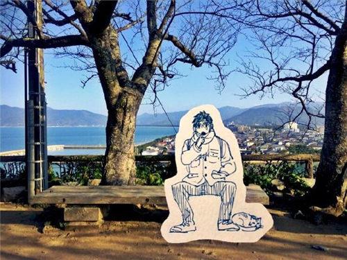 《冰上的尤里》岛国粉丝手绘看板去圣地巡礼