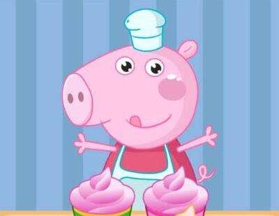 小猪佩奇做蛋糕游戏资料: 小猪佩奇做蛋糕礼包: 1,关注微信公众号