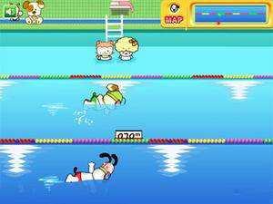 史努比游泳比赛