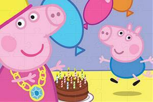粉红猪拼图