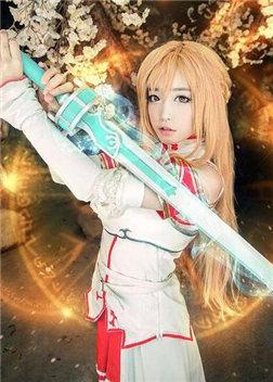 刀剑神域亚丝娜女神精美COS 清纯艳丽