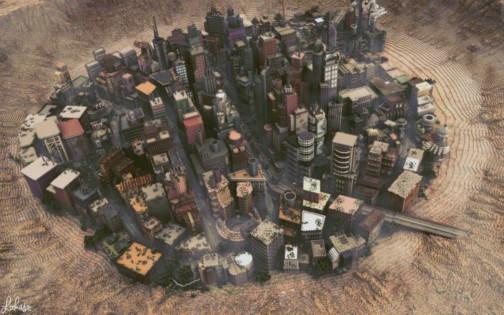 别人的世界!国外玩家打造我的世界超大地图