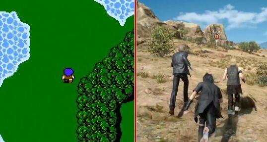 20年了!《最终幻想1》对比《最终幻想15》
