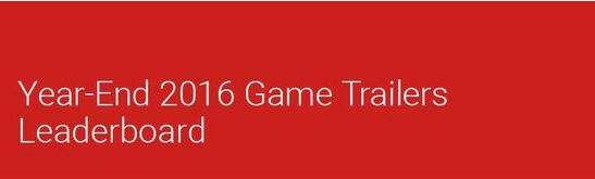 2016年游戏宣传片点击排行 《战地1》第一名
