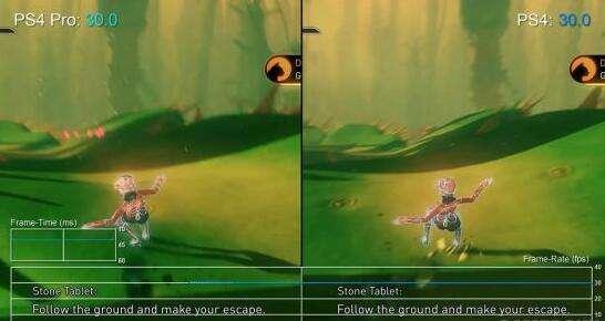 《重力眩晕2》PS4跟   PS4 Pro版对照 差异不大
