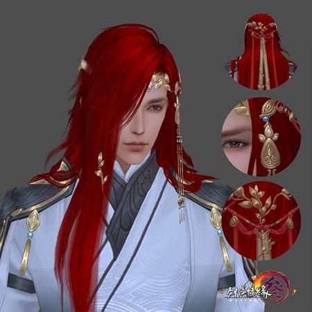 剑网3新春版红发首曝 奢华披风礼盒亮相