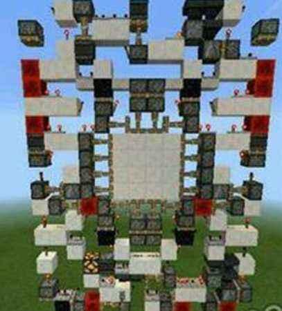 资深玩家实力解剖 我的世界4x4活塞门图解