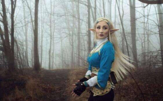 《塞尔达传说:荒野之息》金发公主COS图赏