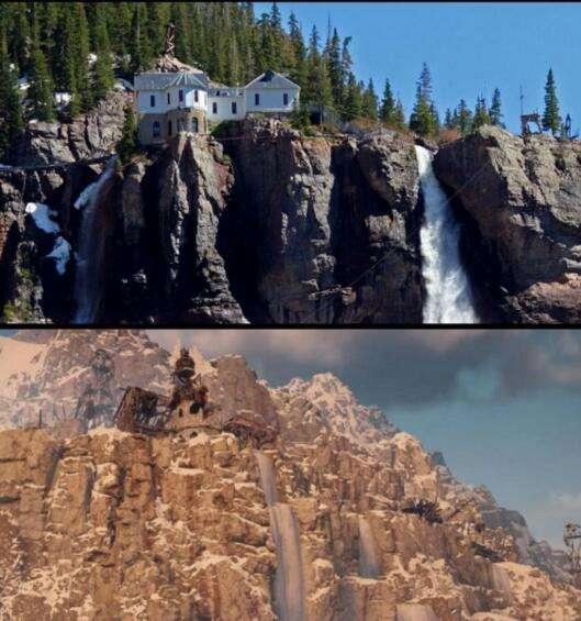 《地平线:零之黎明》中的美景与现实对比