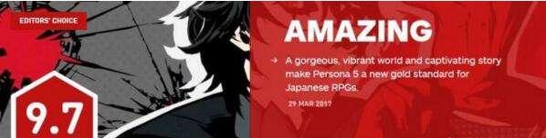 《女神异闻录5》IGN 9.7分 日式RPG的新标杆