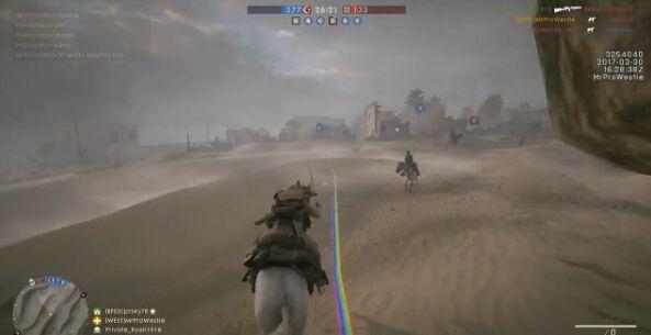 《战地1》愚人节彩蛋 自带彩虹的独角兽
