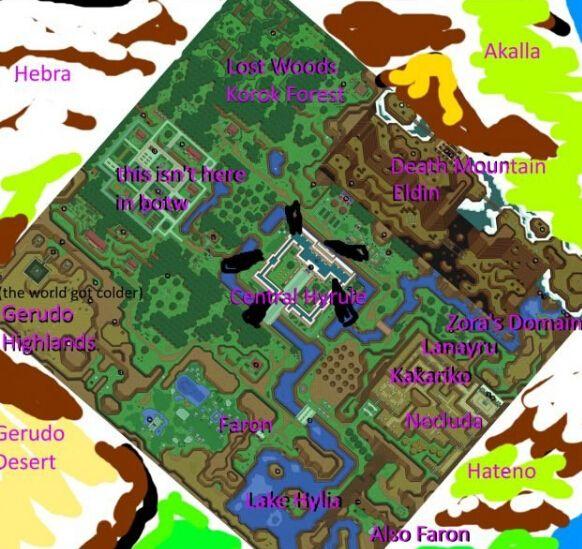 《塞尔达传说:荒野之息》地图旋转之后
