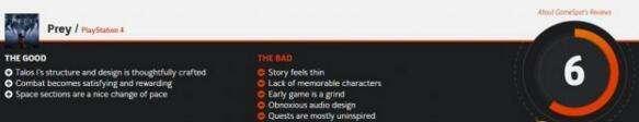 《掠食》GameSpot 6分 故事薄弱任务平庸