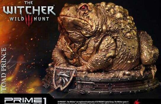 《巫师3:狂猎》黄金版蟾蜍王子雕像4680元