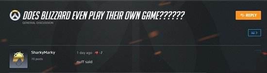 玩家攻击守望先锋制作团队 暴雪却送黑寡妇皮肤