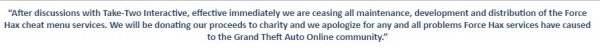 R星母公司叫停《GTA5》外挂 外挂所得将用于慈善