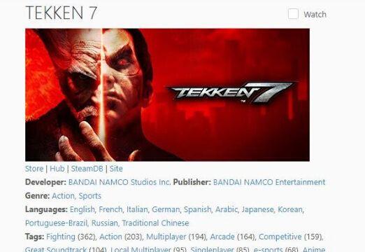 《铁拳7》销量超166万套 其中Steam占1/6
