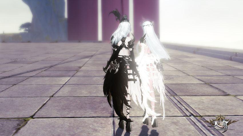 10wR外观剁手纪念 《天谕》时装黑燕展示