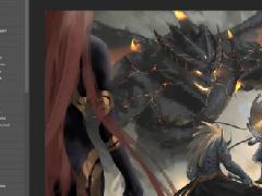 DNF共创大神wlop绘画 赫尔德与龙之战争