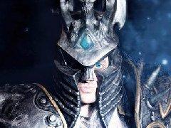 《魔兽》巫妖王COS 阿尔萨斯电眼特效太霸气