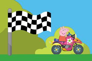 粉紅小豬熱力摩托