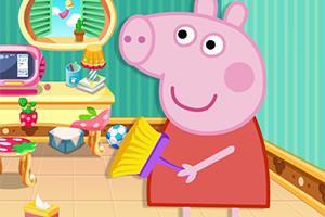 小猪佩奇打扫娃娃屋