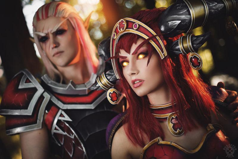 国外玩家精品COS:克拉苏斯和红龙女王