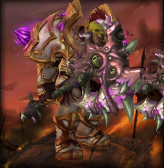 魔兽世界兽人战霸气五把幻化双手武器