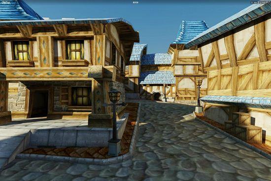 魔兽玩家自制暴风城奥格阵营主城全景图