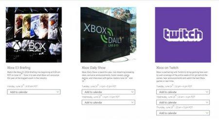 微软公布今年E3游戏展日程安排