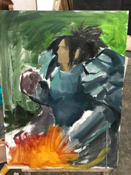 魔兽玩家自绘毕业习作 瓦里安·乌瑞恩