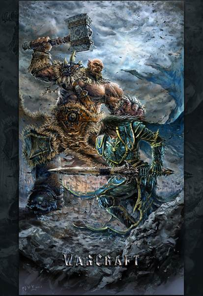 魔兽世界玩家原创 奥格瑞姆和洛萨对决