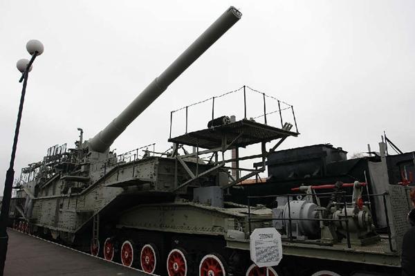霸气侧漏服役超过60年 苏联铁道炮图集
