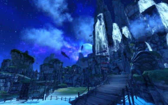 剑灵白鲸湖战场实拍美景欣赏 水月风景美如画