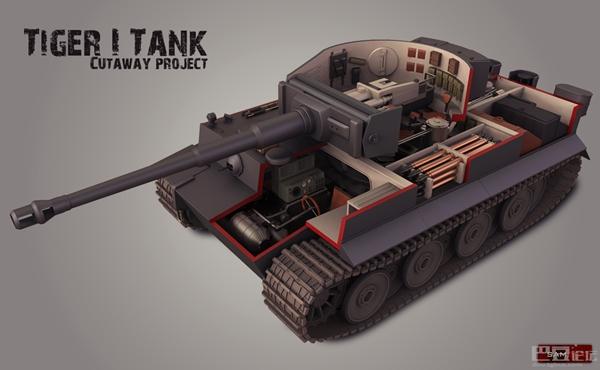 虎虎虎 坦克世界虎王内部3D结构图集赏