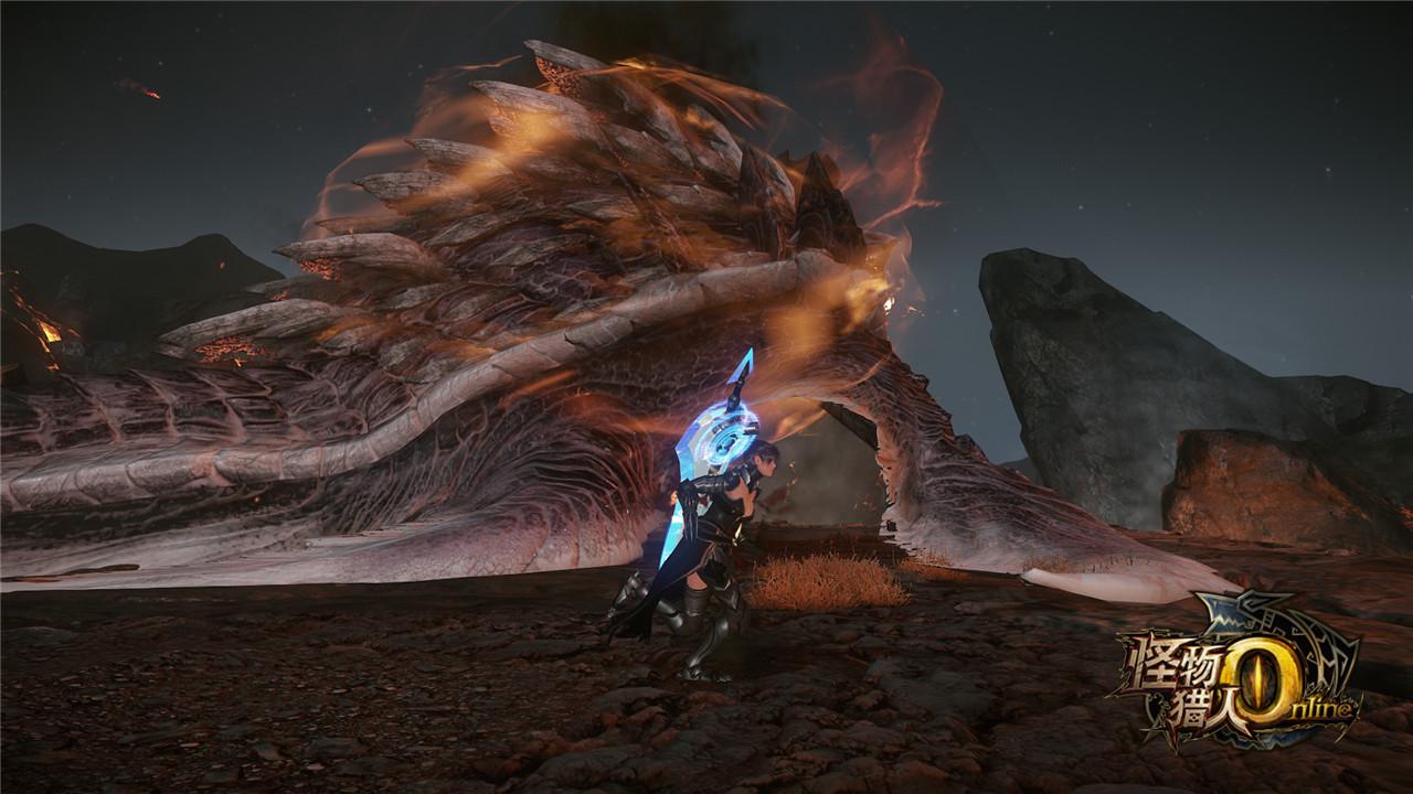 怪物猎人OL全新古龙种怪物燎渊龙闪亮登场