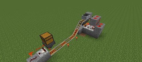 我的世界自动刷铁轨机 一秒四个铁轨