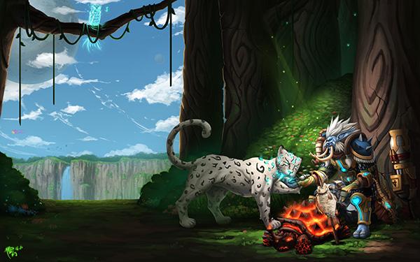 洞窟原创作品火龟烤鱼 休闲猎人与他的宠物