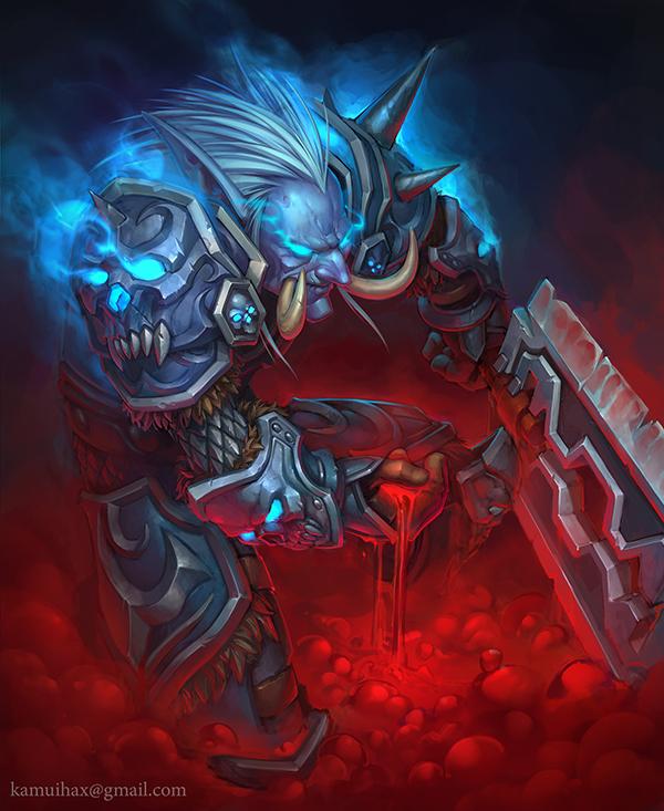 玩家原创画作 寒气逼人的巨魔死亡骑士